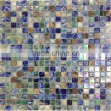 Whole sale Decorative Mosaic tiles glass with marble Living Rom Wall Tile Cream Colour Mosaic Glass Tile