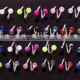 2014 Twister 316L stainless steel ear piercing jewelry, twister piercing jewelry upper piercing jewelry