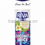 COCONUT WATER WITH PULP IN CAN 240 ML BLUE RIVA BRAND THAILAND