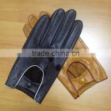 bus truck drivers half finger summer gloves full finger sheepskin leather driving gloves men leather driving gloves