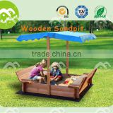 Backyard playset 2016, Waterproof Wooden sandpit with cover