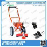 rotary best red nylon line grass cutter with wheel 43cc and 52cc engine with good price(TF-HPC05)