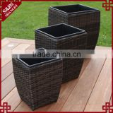 S&D Large Square Outdoor Cheap Balcony & garden planter.square set of 3 plastic flower pot