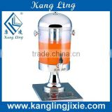 8L transparent dispenser for cooling juice beer milk