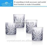 Innovative new products square crystal glass cup