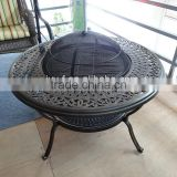 garden round bronze metal table charcoal table fire pit/antique fire pit/fire pit charcoal brazier outdoor metal table