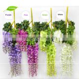 GNW FLV24 Hot sales hanging silk flowers artificial vines ivy for decoration