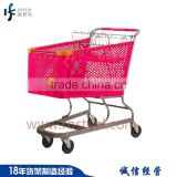 Leffeck wholesale fashion corrosion protection steel wire and plastic baby shopping cart