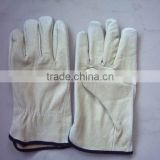 Pig grain leather driver glove