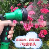 High Pressure Plastic Garden Water Hose Spray Nozzle for Magic Expandaing Hose / Home Washing Foam Flow Water