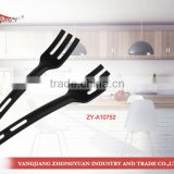 New as seen on tv products 2014 plastic mini fork with hole black handle