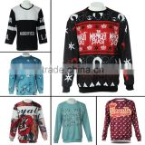 2016 2017 hot custom ugly Christmas sweater mens jumpers crew neck sweatshirt