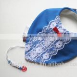 Yiwu Mingzhen garment factory Supply kids clothes cheap price Lace baby bib
