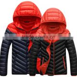 customize fashion women hoody winter warm down jacket/lovers' ladies nylon down feather coat
