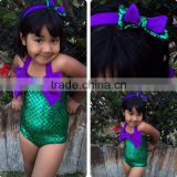 S64833A 2016 new style kids mermaid bathing suit girls swimsuit