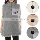 FACTORY wholesale winter lady monogram woman vest