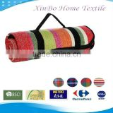 Oek-Tex 100 Hot Sell Lattice Style Acrylic Fibres Waterpoof Picnic Blanket/Outdoor Camp Blanket