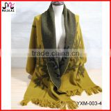 Latest design women's double sided shawl pashmina