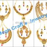 Fashion Bridal Jewellery - Ethnic Bridal Gold Necklace-gold wedding jewellery-Gujarati Bridal Gold Necklace Sets