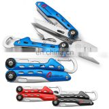 multi tools needlenose regular carabiner plier including wire cutters,saw,knife,screwdriver,opener,
