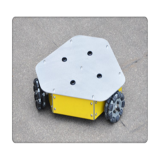 Three-wheel independent drive robot platform
