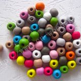 Wholesale supply of handmade \DIY\ accessories, colored wooden beads, candy beads, 6*7MM beads, etc.