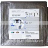 Tarp Cover Silver / Black Heavy Duty Thick Material, Waterproof, Great for Tarpaulin Canopy Tent, Boat, RV or Pool Cover