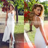 Hot Sale Ankle Length Front Slit Cheap Wedding Dress Made In China