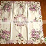Embroidery table cloth and cushion cover 100% cotton damask tablecloth chair covers and tablecloth hotel tablecloth