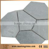 China Black Slate Flagstone on Net,Black Slate Flagstone,China Black Slate Paving, Floor Covering