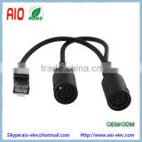 RJ45 Powerlink compatible Y splitter cable New Powerlink to two 8 pin DIN Powerlink compatible sockets