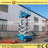 JINCHUAN elevation platforms for construction mobile scissor lift for works site mobile scissor lift SJY
