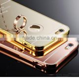 Aluminum + Plastic Luxury Mirror Metal Case 18k 24k gold plated 6 6s case For case apple iphone 6 plus bumper housing                                                                         Quality Choice