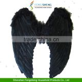 Halloween Fancy Dress Black Angel Fairy Wings Costume Hen Night Feathers Outfit