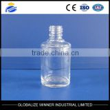 15ml clear glass nail polish oil bottle with aluminum ,plastic cap,min spray perfume bottle