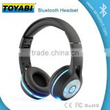 Bluetooth Wireless Stereo Headset with shinning LED light- Retail Packaging with colorful Noise Reduction of wireless or wired
