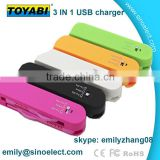 Multi color Swiss Knife 3 in 1 usb charging and data cable for iphone 4/5/6/SSumsung by alibaba china market