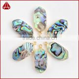 Natural abalone shell assorted color boho paua shell pendants                                                                                                         Supplier's Choice