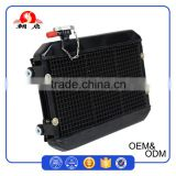 Vehicle Spare Parts Black Brazing All Aluminum Water Cooling Vehicle Radiator With 60W Cooling Fan