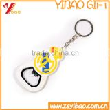 High quality 2D soft pvc keychain, Custom advertising bottle opener pvc key ring for sale