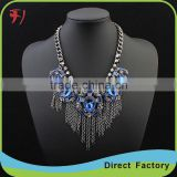 Europe and the United States major suit multi-color small tassel chain necklace exaggerated