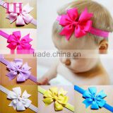 women hair accessories satin glitter fancy hair bands baby girl flower fabric polyester headband for kids