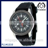 Simple Design Quality Rubber Quartz Men's Sport Watch Sports Men's IP Bezel Rubber Band 24 Jewels Automatic Watch