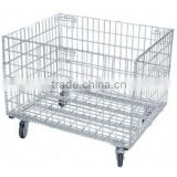 CE certificate Foldable steel grocery wire mesh container