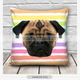 high quality fashion pug dog design 3d digital print pillowcases fullprint decorative throw pillow covers seat cushion Cover
