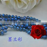 flat round glass beads,facetd crystal beads,blue glass beads
