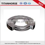 Tri-row crossed roller pin slewing bearing series for heavy duty crane and packaging machinery