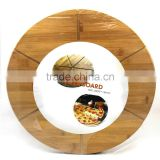extra-large organic and eco-friendly bamboo pizza cutting board and chopping board set factory directly