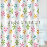 Anti-mildew coating polyester Home 180*180cm full digital printed hotel shower curtains