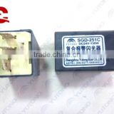 Yutong bus spare parts 3733-00007 Flasher relay SGD-251C ZK6860